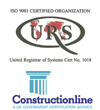 Construction Line and ISO 9001 Logos
